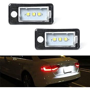 Audi a3 8p a4 b6 b7 a6 c6 a8 d3 lámpara iluminación de la matrícula derecha 8e0807430b