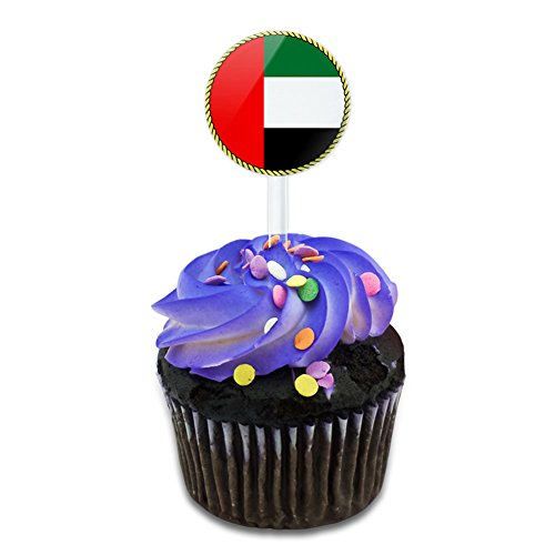 (Flag of United Arab Emirates Cake Cupcake Toppers Picks Set)