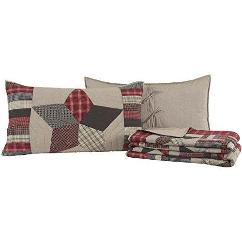 VHC Brands Glory Star 3pc Quilt Set, King