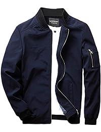 c34a5ec18 Men's Slim Fit Lightweight Softshell Flight Bomber Jacket Coat