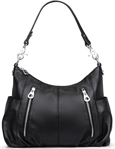 Ladies for Shoulder Handle Women��s Bag Cross and Bags Hobo Heshe Purse Black Handbags Satchel Top Body Totes Leather EZwxavq