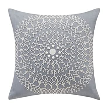 Echo Design Dot Kat Square Pillow, 18 x 18 , Grey