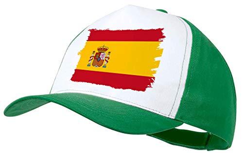 MERCHANDMANIA Gorra Naranja Bandera ESPAÑA Pais Unido Color Cap ...