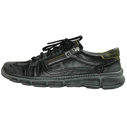 Krisbut Ville De Noir Pour Homme À Chaussures Lacets 86nR6x