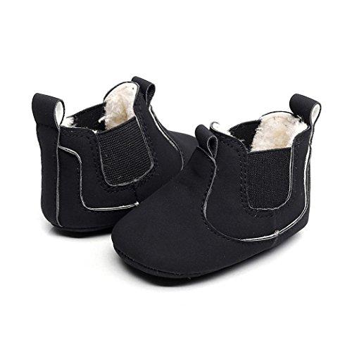 Baby Stiefel, BZLine® Baby Krippe Winter Stiefel Prewalker Warme Martin Schuhe Schwarz