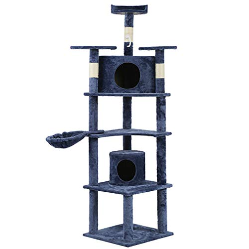 73″ Cat Tree Scratcher Play House Condo Furniture Bed Post Pet House (style3)