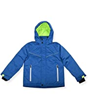 Arctic Quest Boys Spacedye Windproof Waterproof Insulated Hooded Winter Snow and Ski Jacket with Zippered Pockets