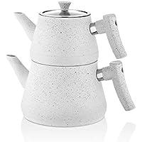 Paçi 15650 Bakalit Saplı Granit Çaydanlık Beyaz 200615