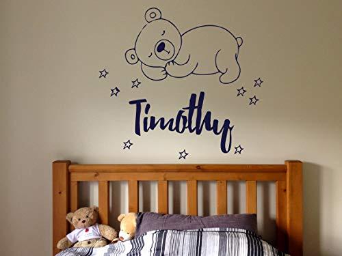 - Wall Sticker Timothy Boy Name Sleepy Bear Stars Good Night Baby Kids Room Vinyl Mural Decal Art Decor EH4906