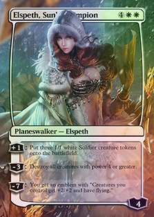 Elspeth, Sun's Champion - Casual Play Only - Customs Altered Art Foil (Elspeths Suns Champion)
