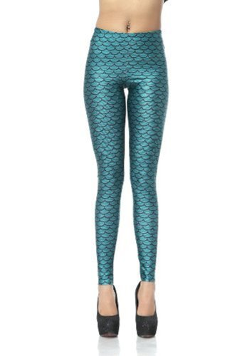 Legging Leggings mermaid Femme Shining Amour Dk069 Moyen aqwSXXxd5