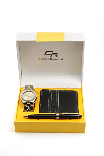 Mens Elegant Wallet, Pen and Metal Classy Two - Charles Raymond Watches For Men