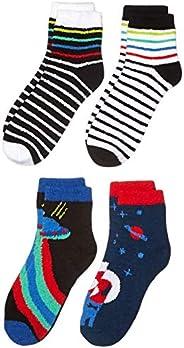 Amazon Brand - Spotted Zebra Boys Fuzzy Cozy Socks
