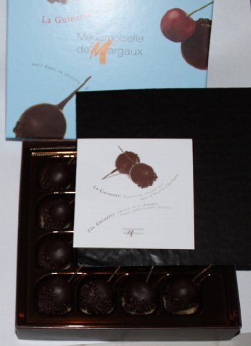 Chocolate Dipped Cherries in a Fancy Box - Imported from France