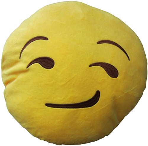 LeBeila New Emoji Pillow Big Smiley Happy Laughing Face Emoticon Cushion Prime 13 Inches Large Stuffed Throw Plush Pillow Soft Toy