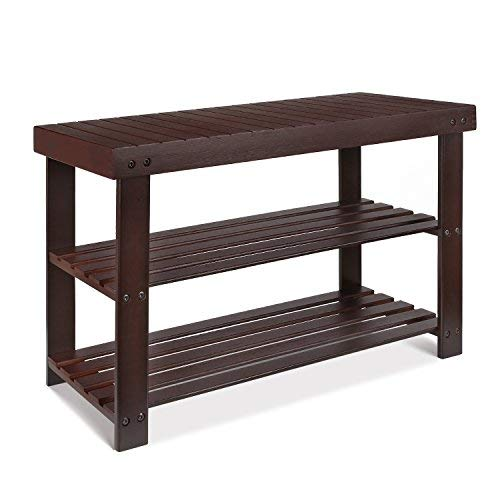 HOMFA Bamboo Shoe Rack Bench 2-Tier Storage Shelf Shoe for sale  Delivered anywhere in Canada