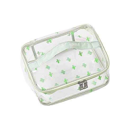 - Leegoal TSA Approved Toiletry Bag,Clear Travel Bag Quart Sized with Zipper,Airport Airline Compliant Bag Cactus