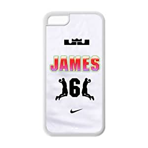 Lebron James Iphone 5C Case Star Iphone 5C Cases Cover rosey-NO78
