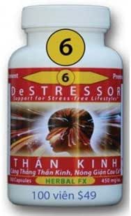 TOAN CHAN DeStressor #6 - Giam Cang thang 100 capsule PLUS BONUS Axe shampoo/conditioner