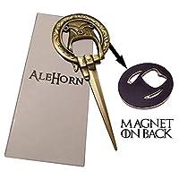 """Abridor de botellas estilo """"Mano del Rey"""" de AleHorn - Quita fácilmente las tapas de las botellas y abre cartas - Regalo perfecto para los fanáticos de Game of Thrones (Mano del Rey)"""