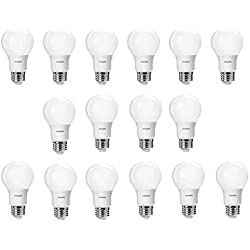 Philips LED A19 Non-Dimmable 800-Lumen, 2700-Kelvin, 8.5-Watt (60-Watt Equivalent) Light Bulb, E26 Medium Base, Soft White, 16-Pack
