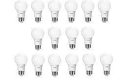 Philips 461160 40 Watt Equivalent Daylight A19 LED Light Bulb, 16-Pack