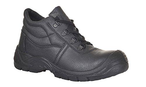 Portwest Fw09Paar Schuhe-Sicherheit Typ S1P, 46, Schwarz Schwarz