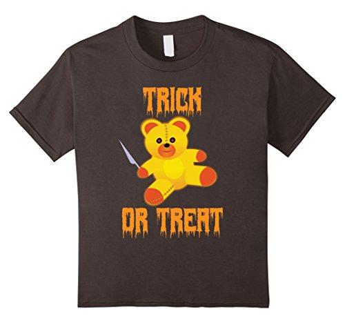 Kids Trick or Treat Scary Killer Teddy Bear Halloween Shirt 12 (Killer Teddy Bear Costume)