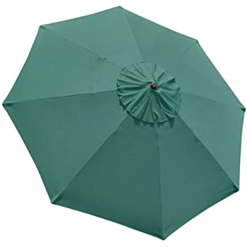 New 9u0027 FT Market Patio Garden Umbrella Replacement Canopy Canvas Cover Green