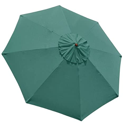 New 9u0027 FT Market Patio Garden Umbrella Replacement Canopy Canvas Cover Green