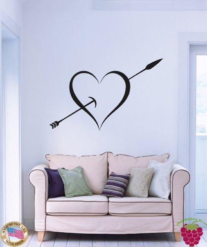 Wall Stickers Arrow Trespassing Heart Very Romantic Decor (Trespassing Wall)