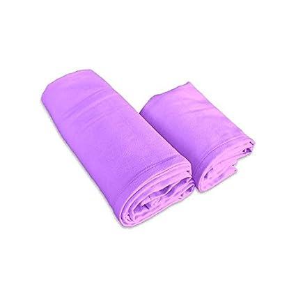 Juego toallas microfibra lila 1 + 1 Viso e invitados
