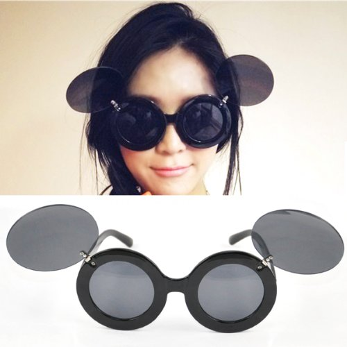 b6eeb347ac7 Beyondfashion Vintage Ladies Mickey Mouse Flip Up Shades Sunglasses  Paparazzi Funny Glasses Gaga Party  Amazon.co.uk  Clothing