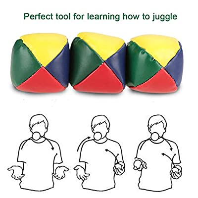 Juggling Balls,8 Pack Professional Juggling Balls Set for Beginners Kids,Durable Juggle Ball Kit Learn to Juggle Toy Game Ideal Fun,Soft Classic Juggle Balls Beanbags for Kids and Adults (Blue): Toys & Games