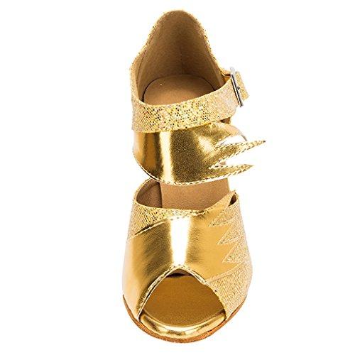 Meijili - plataforma mujer dorado
