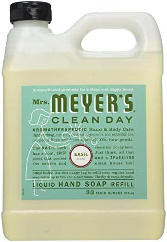 Mrs. Meyer's Liquid Hand Soap Refill, Basil, 33 Ounce