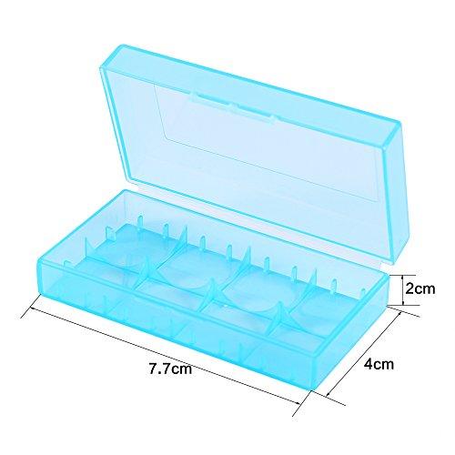 Mugast 10PCS 18350/18650 Battery Case, 5 Colors Plastic Battery Storage Box, Made of PP Raw Materials by Mugast (Image #5)