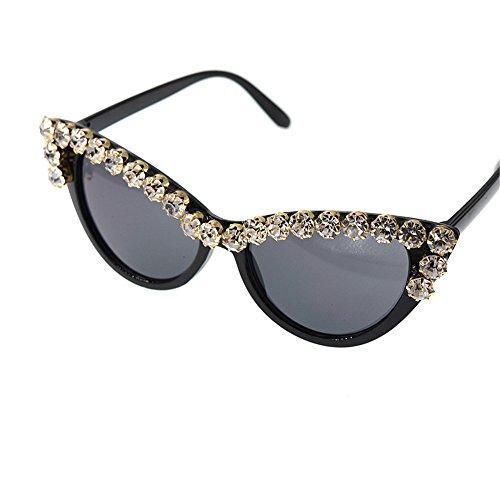 Eyes para Cat de de Playa Crystal Ojos de Lady'S en Gafas Moda conducción Protección la Proteccion la Tonos Vacaciones Sol de Baroque UV Personalidad Style qTwtI6xgx