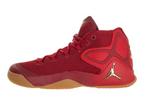 Jordan Uomo Nike Melo Scarpa Da Basket M12 Palestra Rosso / Mtlc Gld Str / Chllng Rd