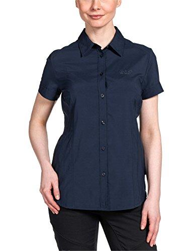 Jack Wolfskin Damen Bluse Track Shirt, Night Blue, M, 1401031-1010003