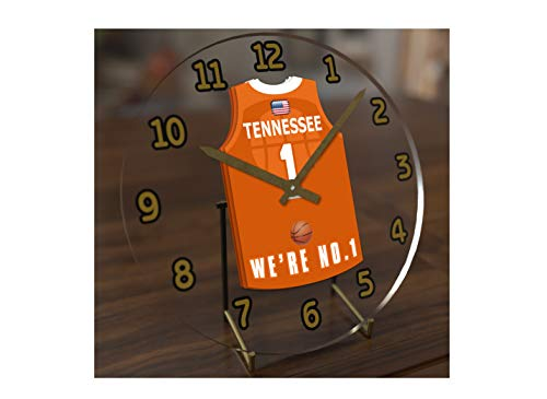 FanPlastic College Basketball USA - We're Number ONE College Hoops Jersey Themed Clocks - Support Your Team !!! (Tennessee Volunteers) ()