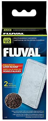Poly Carbon - Hagen FLUVAL U2 Poly/Carbon Cartridge Filter Media, 12 Pack