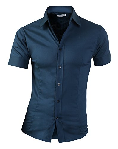 wizi-mens-casual-slim-fit-short-sleeve-button-down-color-dress-shirts-turquoise-bluegreen-us-l