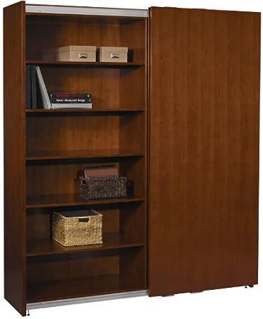 sliding door bathroom cabinet white bookcase wood lock track nz