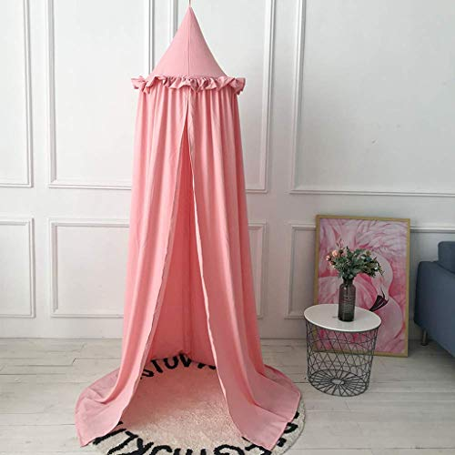 Baby Bedding Kids Room Bedding Mosquito Net Romantic Round Bed Gentle Net Bed Cover Hung Dome Bed Canopy Prevent Mosquitoes Insects Dust Matching In Colour Crib Netting