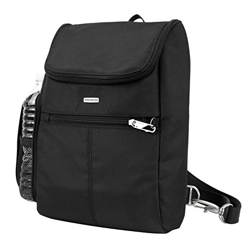 Classic Messenger Bag Backpacks - Travelon Anti-Theft Classic Convertible Backpack, Black
