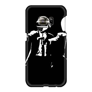 Shock-Absorbing Hard Cell-phone Cases For Samsung Galaxy S6 With Unique Design Nice Daft Punk Band Image EricHowe