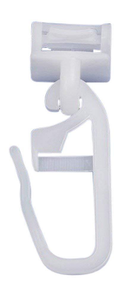 rewaqi Lot de 100curseurs pour rails de rideaux, 6mm, fixation à clipser Unbekannt