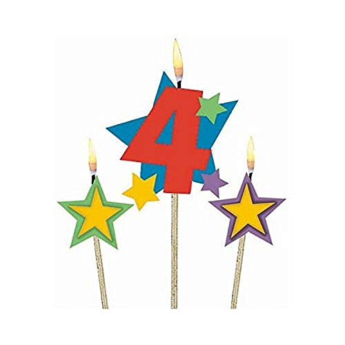 number 4 birthday candle - 6