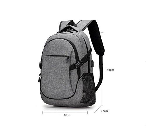 Para Para Secundaria Grey Bolsa Mochila Ordenador Viaje Escuela De Pack Casual Hombre De Carga De Pack Hombro Bolsa Bolsa De CxvZ1qnt